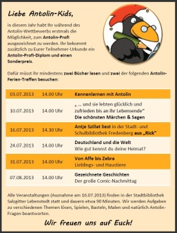 Antolin-Ferientreffen 2013