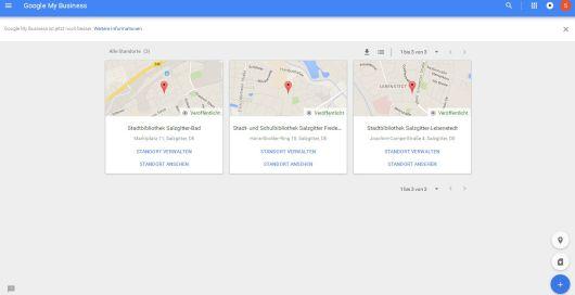 Google MyBusieness Standorte