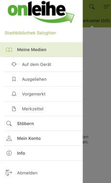 onleihe-app-startbildschirm